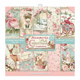 Paperpad 30.5 x 30.5 cm Pink Christmas - Stamperia