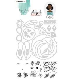 BASICSDCKJ05 Stamp and Die - Missees - Karin Joan - Studio Light