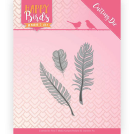 JADD10089 Snij- en embosmal - Happy Birds - Jeanine's Art