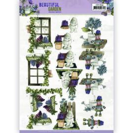 CD11635 3D vel A4 - Beautiful Garden - Marieke Design