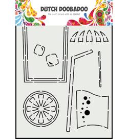 470.784.025 - Card Art A5 Cocktail glass - Dutch Doobadoo