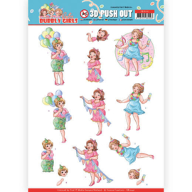 SB10441 Stansvel A4 - Bubbly Girls - Yvonne Design