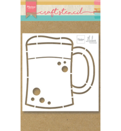 PS8063 Craft stencil Beer Mug - Marianne Design