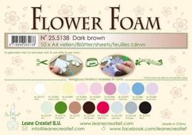 25.5138 Flower foam sheets A4 0.8mm. Dark brown - per stuk