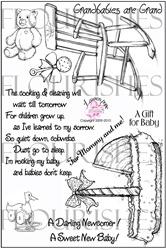 SS076 Geboorte en tekstjes Clearstempel - Flourish