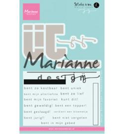 KJ1726 Clearstempel met mal - Marianne Design