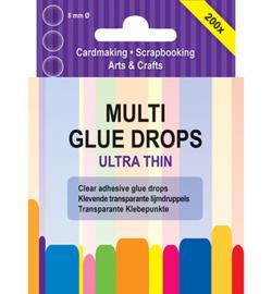 Glue Drops 8mm Ultra Thin - 200 stuks