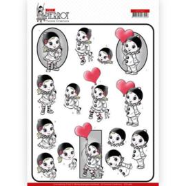 CD11467 3D vel A4 - Pierrot - Yvonne Creations