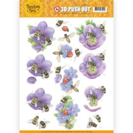 SB10365  Uitdrukvel A4 - Buzzing Bees - Jeanine's Art