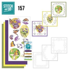 Stitch and Do 157 - set voor 3 borduurkaarten