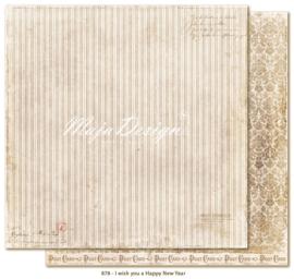 878 Scrappapier dubbelzijdig - I Wish - Maja Design