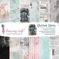 Paperpad 30.5x30.5cm - Dream Door - 24 vel dubbelzijdig -Dress my Craft - Pakketpost