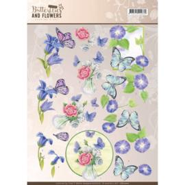 CD11000 Knipvel A4  - Butterflies and Flowers- Jenine's Art