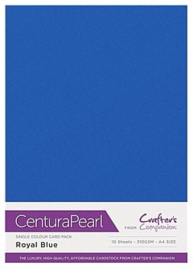 Royal Blue - Glanskarton A4 310 grams - 10 vel - Centura Pearl