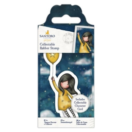 GOR907144 Mini rubber stempel nr.45 Fly away with me - Gorjuss