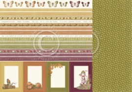 PD9611 Scrappapier dubbelzijdig - Summer Falls into Autumn - Pion Design