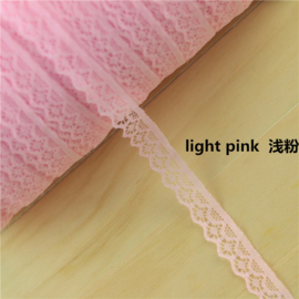 Kant nr. 6 breed 13mm - Licht Rose - per meter