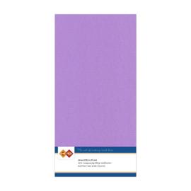 17 Lila - Linnen Kaarten 4 kant 13.5x27cm - 10 stuks - 200 grams - Card Deco