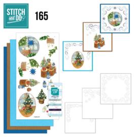 Stitch and Do 165 Kerst - set voor 3 borduurkaarten