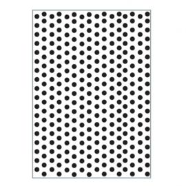 100604-006  Dots Embossingstencil A6 - Vaessen