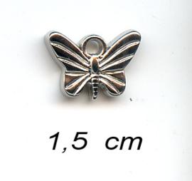 039 Charms Vlinder - 5 stuks - Zilver