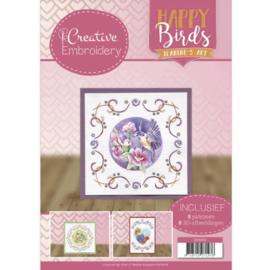 CB10001  Create Embroidery - Happy Birds - Jeanines Art