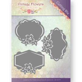 JAD10036 Snij- en embosmal - Vintage Flowers - Jenine's Art