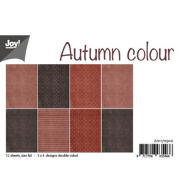 6011/0506 Paperbloc A4 a 12 vel - Autumn Colour - Joy Crafts