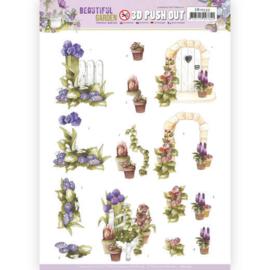 SB10533 Stansvel 3D vel A4 - Beautiful Garden - Marieke Design