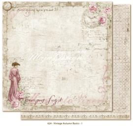 624 Scrappapier dubbelzijdig - Vintage Autumn - Maja Design