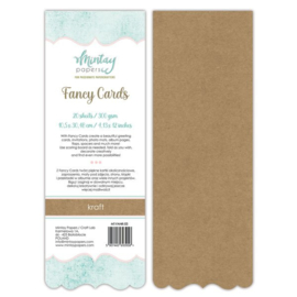Fancy Cards Acolade - 20 stuks 300 grams kraft  10,5 x 30,48cm - Mintay