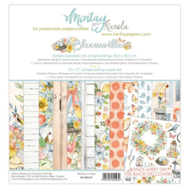 Paperpad 30.5 x 30.5cm - Bloom Ville - Mintay