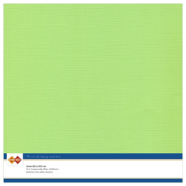 21 Mei Groen - Linnen Karton 30,5 x 30,5cm - 10 stuks - 200 grams - Card Deco - PAKKETPOST!!