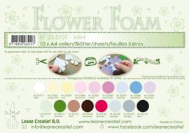 25.5107 Flower foam sheets A4 0.8mm. Mint - per stuk