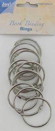 6200-0123 Bindringen zilver 40mm - 12 stuks - Joy Crafts