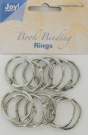 6200-0122 Bindringen zilver 30mm - 12 stuks - Joy Crafts