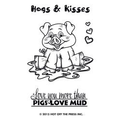 HOTP-1169 Hogs en Kisses - Clearstempel - Hot off the Press