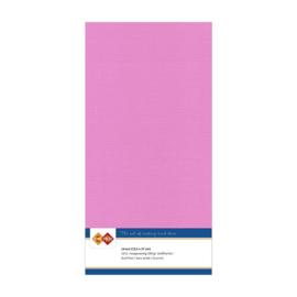 37 Fuchsia Paars - Linnen Kaarten 4 kant 13.5x27cm - 10 stuks - 200 grams - Card Deco