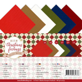 PM4K10023 Vierkant karton 13.50x27cm - Warm Christmas Feelings - Marieke Design