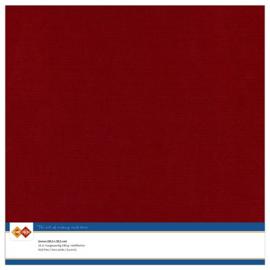 14 Bordeaux - Linnen Karton 30,5 x 30,5cm - 10 stuks - 200 grams - Card Deco - PAKKETPOST!!