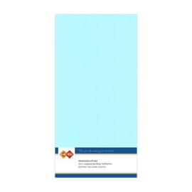 28 Lichtblauw - Linnen Kaarten 4 kant 13.5x27cm - 10 stuks - 200 grams - Card Deco
