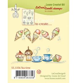 55.3356 Clearstempel Tea Time - Leane
