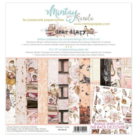 Paperpad 15.2 x 15.2cm - Dear Diary - Mintay