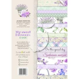 Papierbloc A4 - My Sweet Provence - Lemoncraft