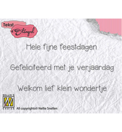 DTCS015 Clearstempel Nederlandse tekst - Nellie Snellen