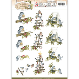 SB10182 Stansvel A4 -  The Nature Christmas - Marieke Design