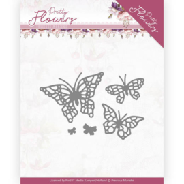 PM10193 Snij- en embosmal - Pretty Flowers - Marieke Design