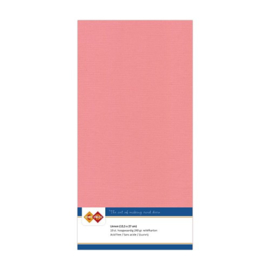 43 Oud Roze - Linnen Kaarten 4 kant 13.5x27cm - 10 stuks - 200 grams - Card Deco