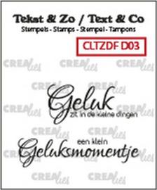 CLTZDFD03 Clearstempel - Crealies