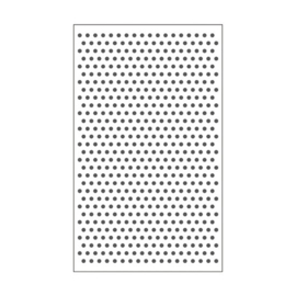 "100604-101 Dots Embossingstencil 3x5""- Vaessen"